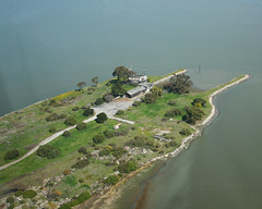 Cooley Landing from the air