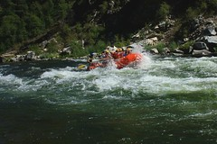 whitewater kayaking(0.0), vehicle(1.0), sports(1.0), rapid(1.0), river(1.0), recreation(1.0), outdoor recreation(1.0), boating(1.0), extreme sport(1.0), water sport(1.0), boat(1.0), rafting(1.0),
