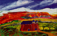 NM. landscape art postcard