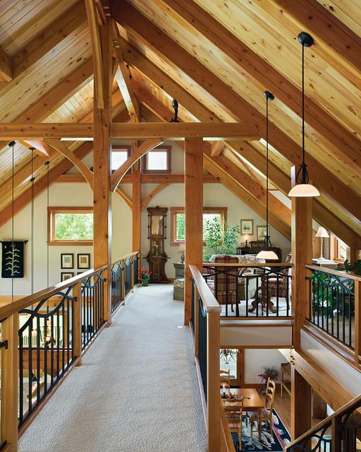 Hillside timber cottage timber frame home loft flickr for Small timber frame cottage