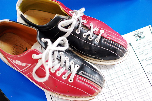 Bowling Shoes & Score Sheet