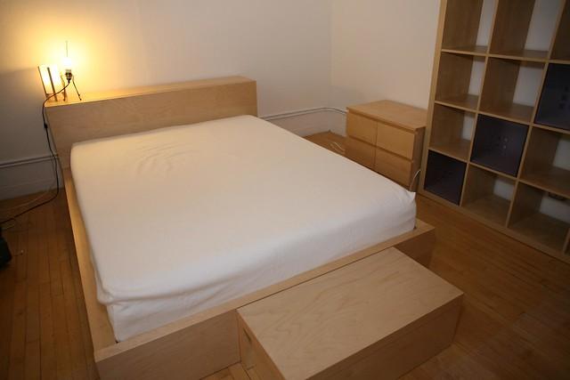 Queen Storage Bed Woodworking Plans