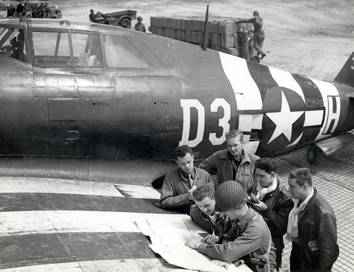 368th Fighter Group P-47 and pilots