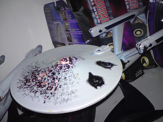 Art Asylum USS Enterprise NCC-1701 Refit Battle Damage