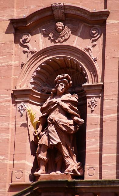 Amorbach, Abteikirche, hl. Simplicius (Abbey Church, St. Simplicius)