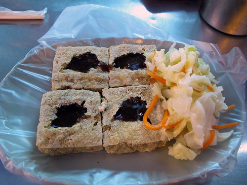 stinky tofu and pickled cabbage