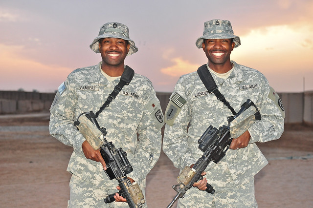 Deployed identical brothers from Colorado Guard