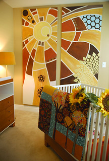 Modern Bohemian Sun Painting