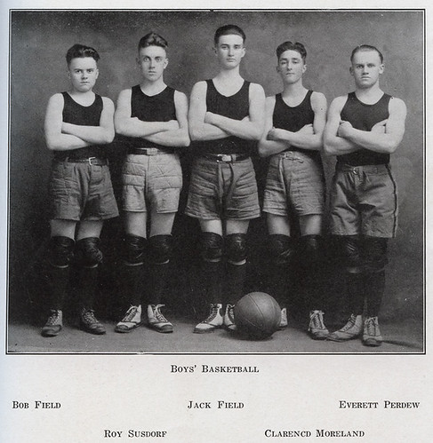 Wheeler High School Boys' Basketball Team, 1921 - Wheeler, Indiana