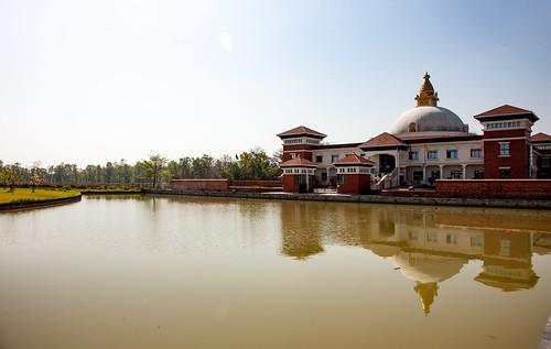 Japanese Sokyo Temple - Lumbini - birthplace of the Buddha - Nepal