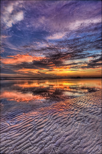 sunset sky beach gulfofmexico water colors clouds reflections sand colorful sundown florida shoreline ripples hdr fortmyersbeach sigma1020mm fortmyersfl d90 tonemapped bowditchpoint nikond90