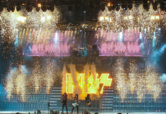 KISS Concert Stage on FIre