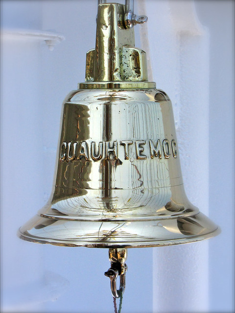 The slain warrior's name on a ship's bell