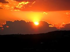Sunset mid-July austin texas