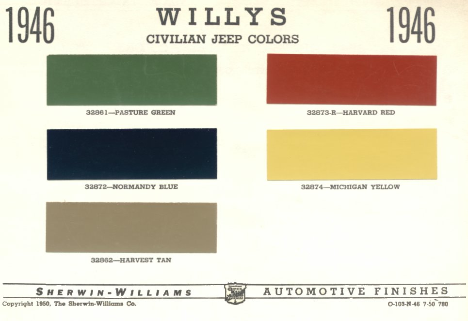 3793457935_dea52aa04f_o 1946 willys jeep cj2a original color chart a photo on flickriver 1947 Willys Jeep Wiring Diagram at readyjetset.co