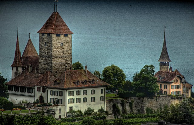 Schloss Spiez with Church