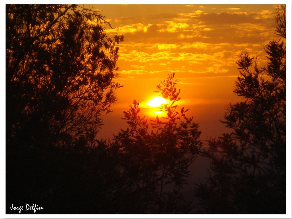 Por do Sol sobre Vilas Boas