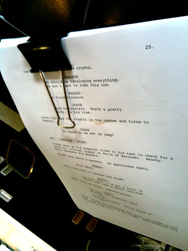 FOUND IN CAFE: Screenplay, slightly used