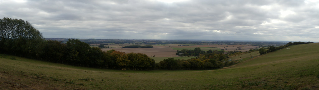 View from the Downs Sandling to Wye