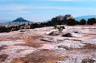 Image of Pnyx near Athens. archaeology athens pnyx