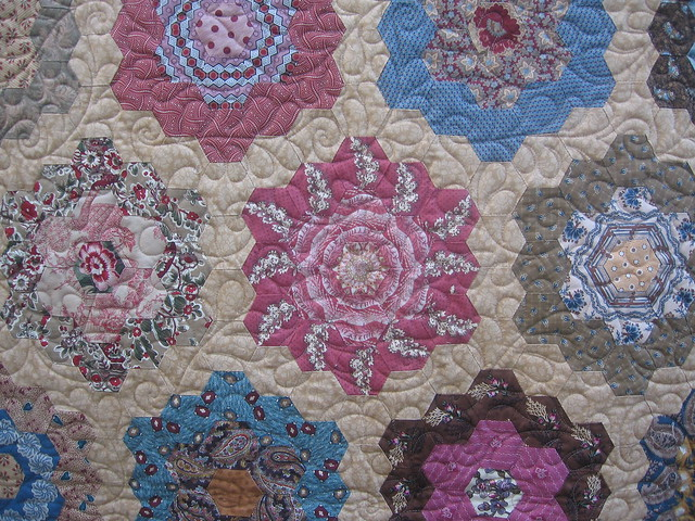 Grandmothers flower garden quilt - TheFind