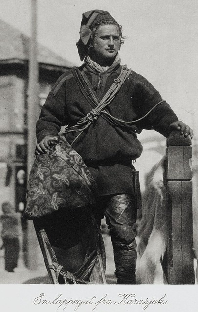A young Sami man from Finnmark Norway c. 1880 - 1910
