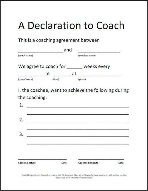 Coaching agreement flickr photo sharing for Coaching contracts templates