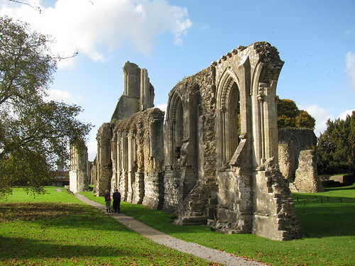 Glastonbury Abbey in Autumn