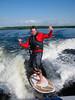 Wakesurfing! by Derek Purdy