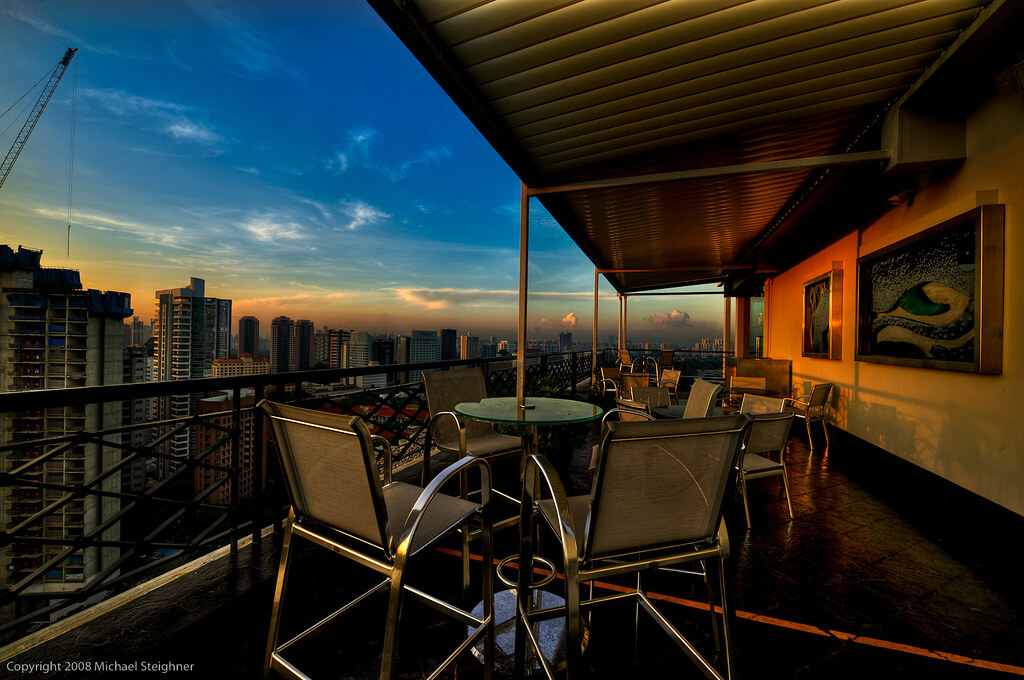 From the rooftop of the Shangia-La Hotel in Singapore by MDSimages.com
