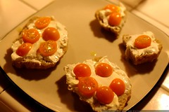 orange cherry tomatoes from liesel's garden and crea…