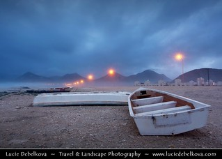 Oman - Abandoned Boats on the Al-Maghseel Beach Near Salalah