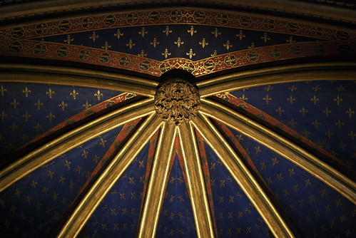 Ceiling, lower chapel, Sainte-Chapelle
