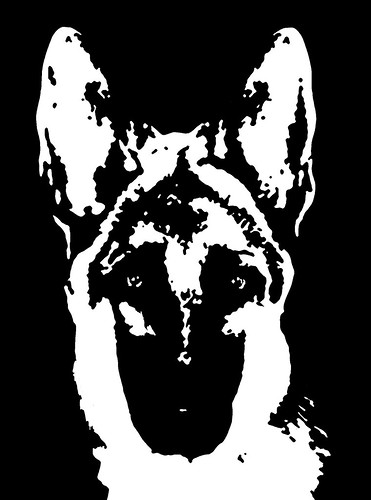 German Shepherd Black Amp White Stencil Dog Art Print Flickr