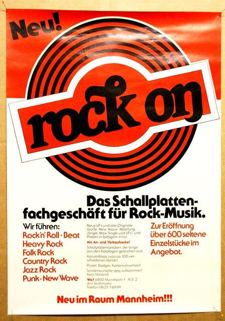 rock on records mannheim 1978 flickr photo sharing. Black Bedroom Furniture Sets. Home Design Ideas