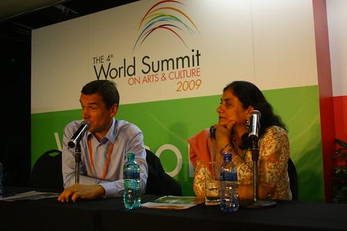 Stojan Pelko (Slovenia) and Madeeha Gauhar (Pakistan), 4th World Summit on Arts & Culture