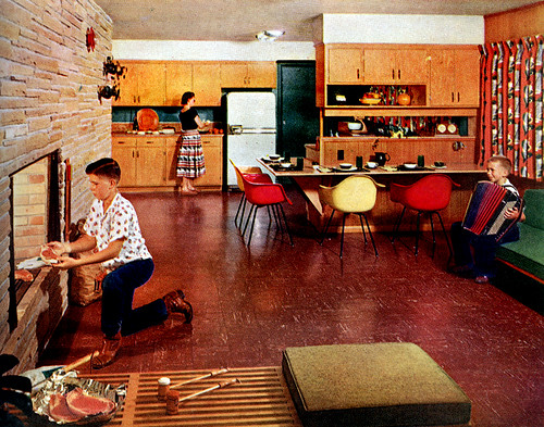 Early 50s kitchen 1950 55 mid century living for Early house music