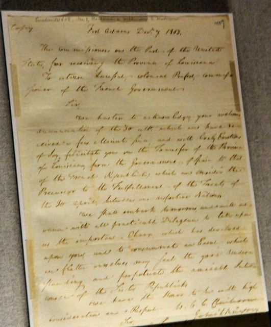Louisiana Purchase Agreement At National Archives
