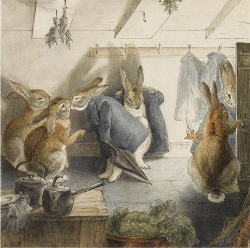 "Artwork by BEATRIX POTTER ""THE RABBITS' CHRISTMAS PARTY"""