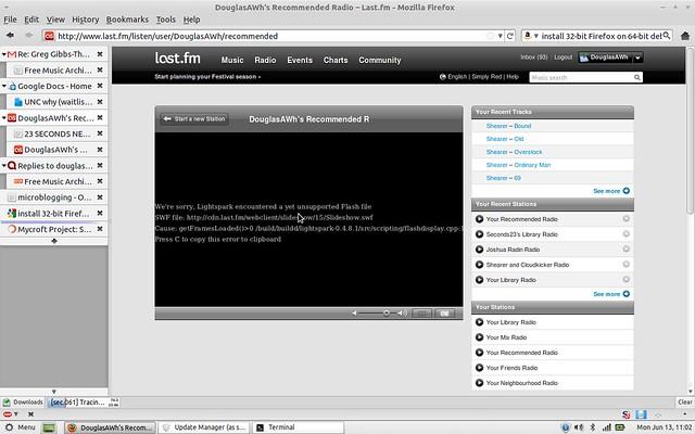Lightspark, Linux, Ubuntu