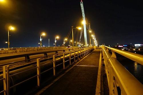 大直橋上的單車道尚稱寬敞,與汽機車之間完全隔絕。