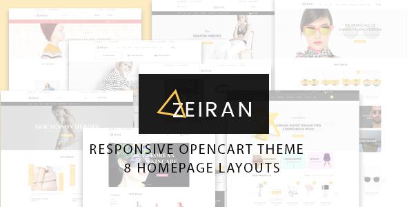 Zeiran v1.0 – Multipurpose Responsive Opencart Theme