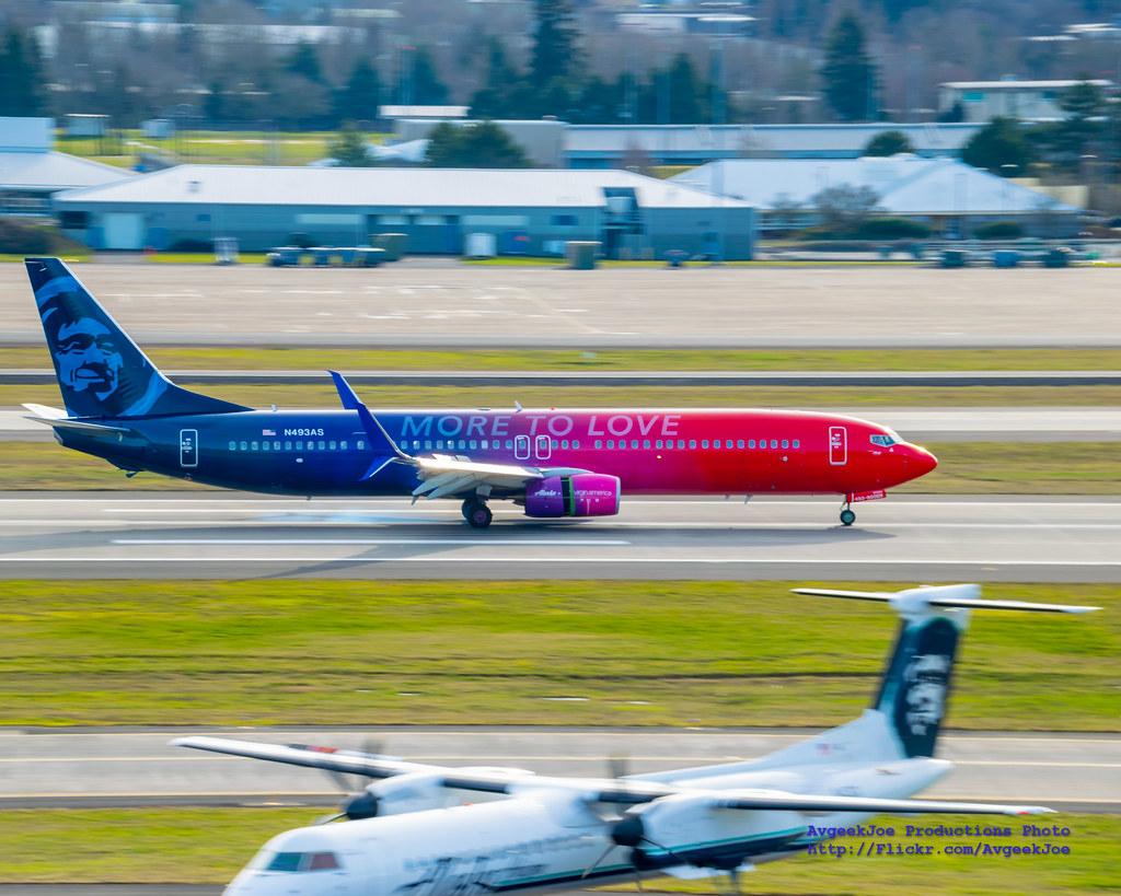 N493AS - B739 - Alaska Airlines