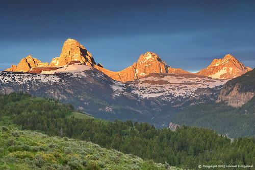sunset snow mountains idaho tetons coth tetoncanyon flickrclassique