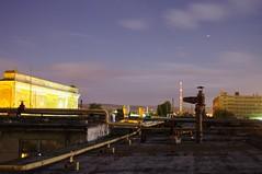 Rooftop at night, Zbrojovka, Brno