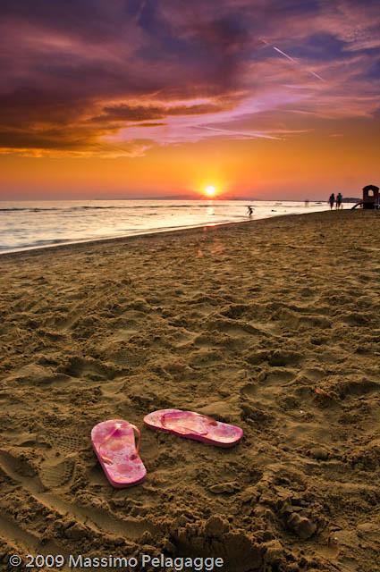 Follonica spiaggia al tramonto 1