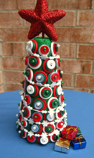 The Christmas Button Tree