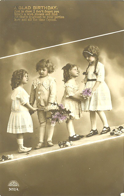 Vintage Little Girl Postcards