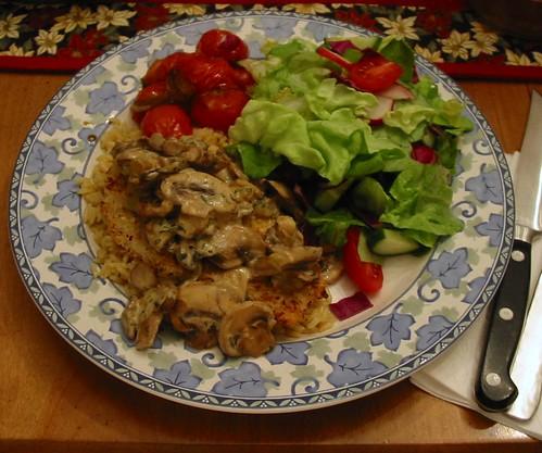 Sherry Mushroom Mustard Chicken
