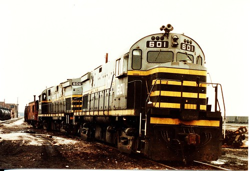 Belt Railway of Chicago Alco Century series roadswitchers idling at Clearing Yard. Bedford Park Illinois. March 1985. by Eddie from Chicago